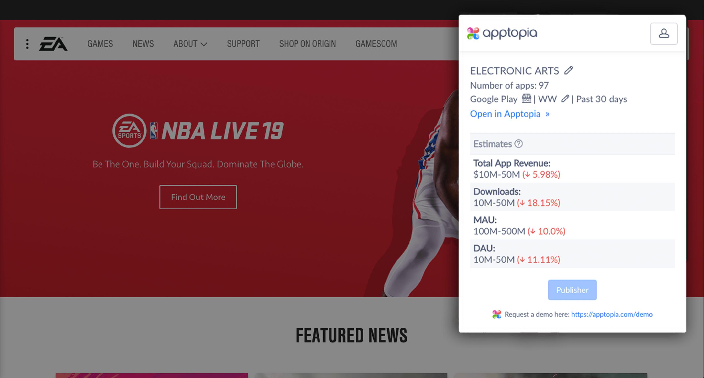 Apptopia for Chrome Screenshot