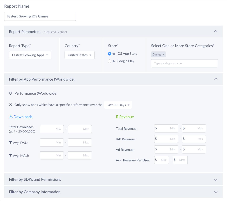 Report Builder Screenshot 1
